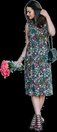 Jenny with flowers