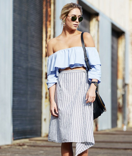 Paired with a skirt- 70's bohemian feel.